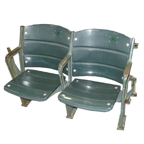 Boston Red Sox Fenway Park dual stadium seats - used in stadium from 1979-2007 and comes with Boston Red Sox Letter of Authenticity