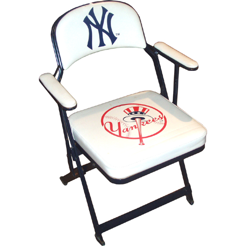 2007 Yankee Stadium Used Locker Room Folding Chair comes with Yankees/Steiner Letter of Authenticity