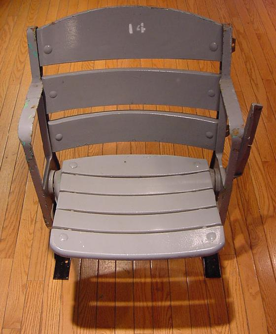 Baltimore Memorial Stadium Original wood seat with original paint and certificate of authenticity from the Maryland Stadium Authority