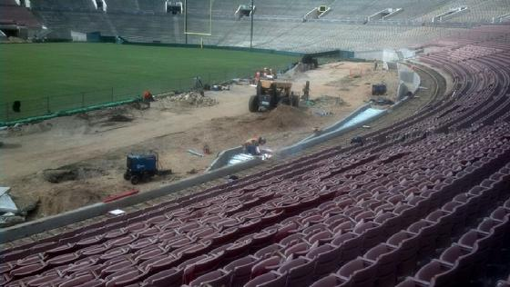 Rose Bowl Stadium Seat were removed in 2014